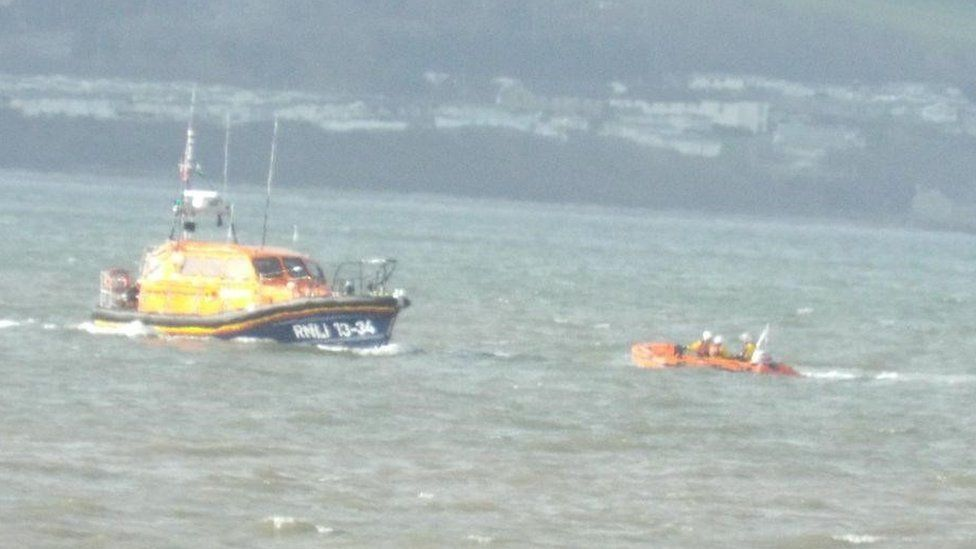 A lifeboat searching