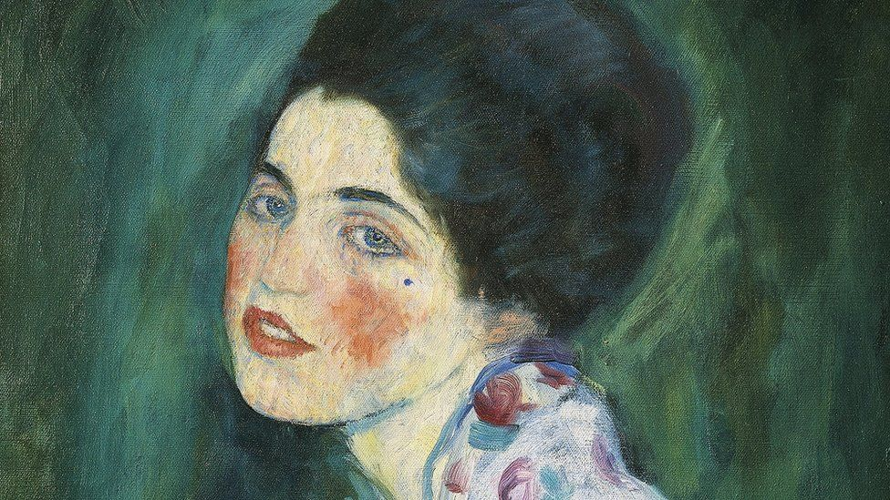 Portrait of a lady, by Gustav Klimt (1862-1918)