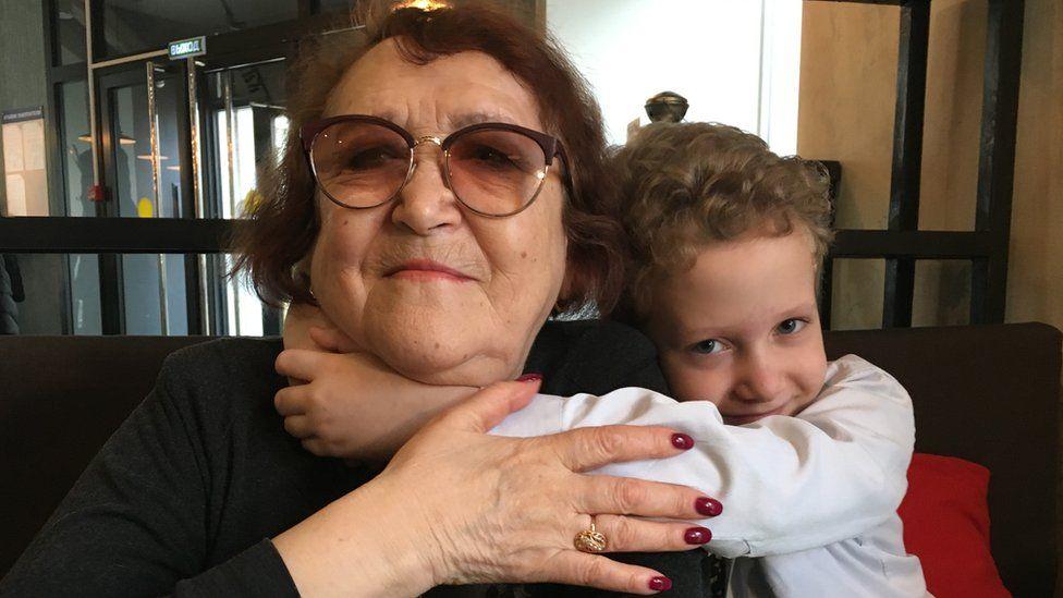 Tamara Gryaznova and granddaughter