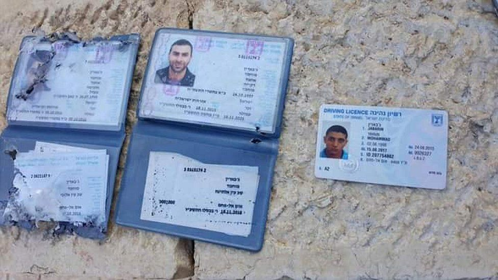 Identity cards, believed to belong to the attackers (14/07/17)