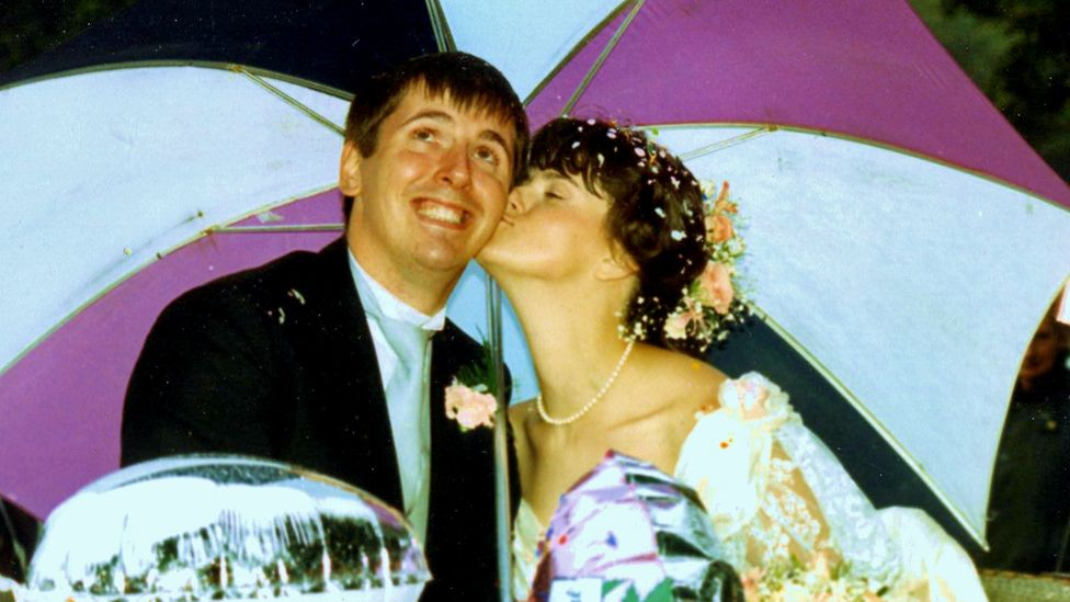 Wyn and Kay on their wedding day