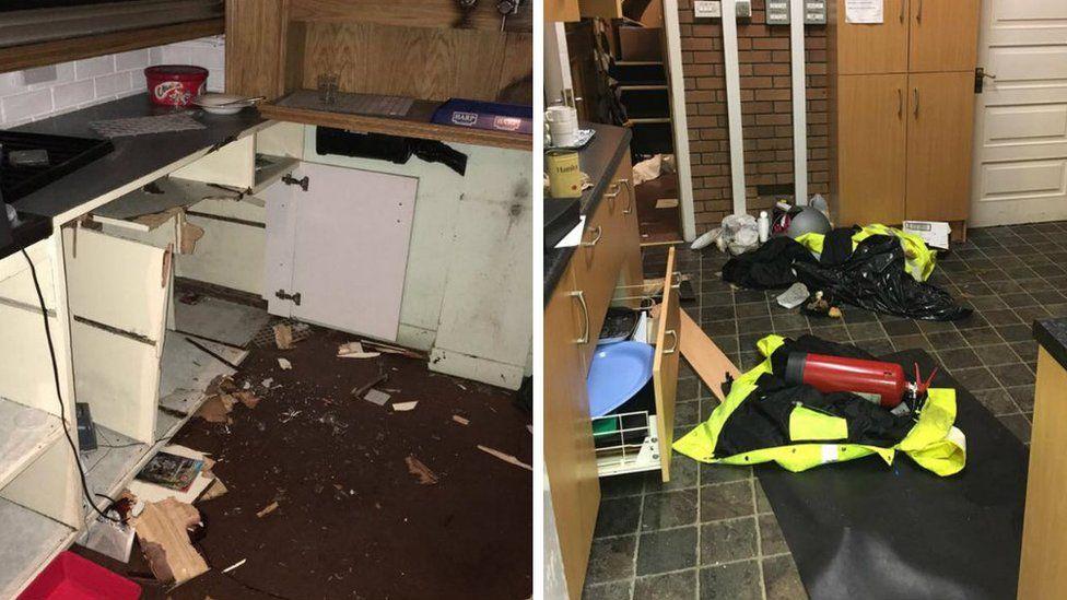 St Enda's damage