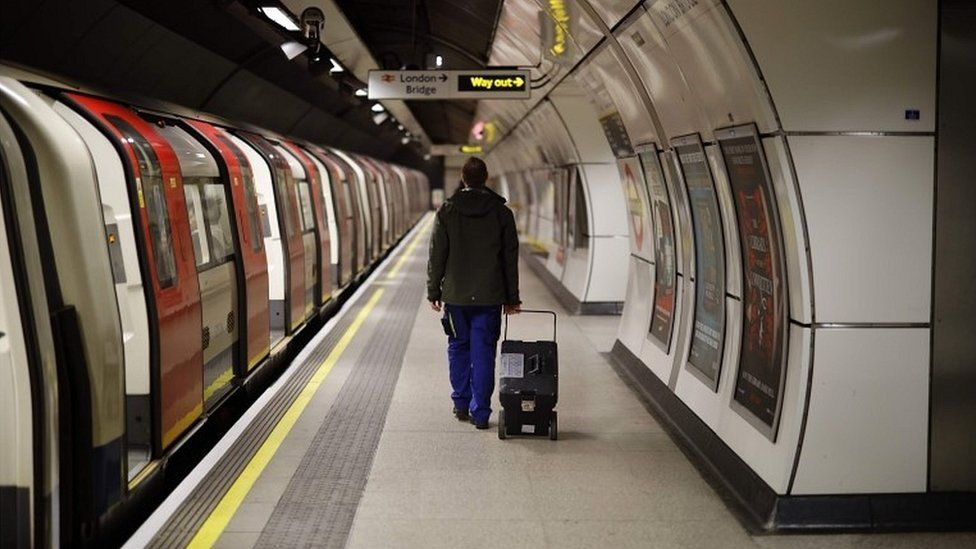 Person on Tube platform