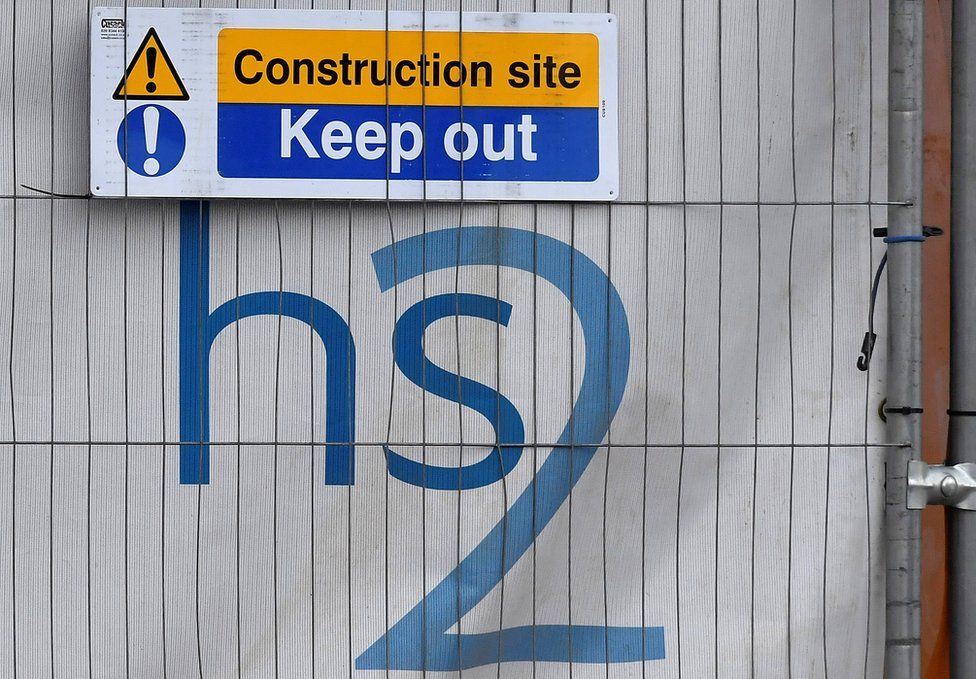 Construction sign at Euston, in London
