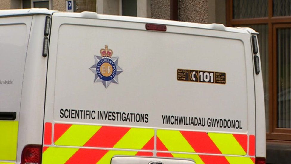 forensics van at the house in Pentrechwyth Road, Swansea