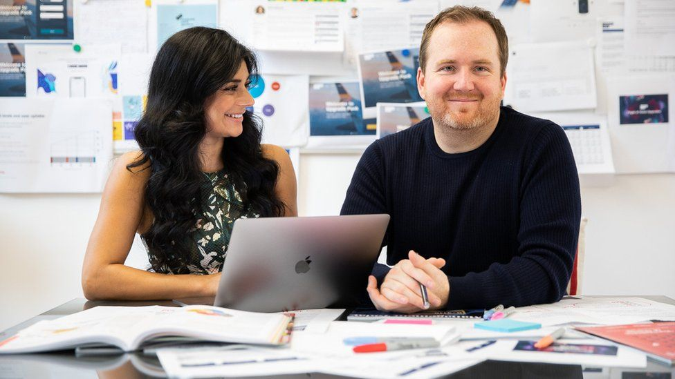 Craig Unsworth and his business partner Urchana Moudgil