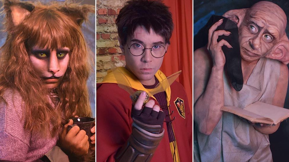 Jaremi Carey / Phi Phi O'Hara as Harry Potter characters