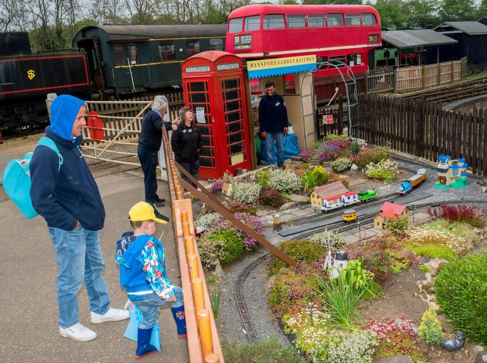 Visitors to the Nene Valley Railway. Stibbington, Camridgeshire.