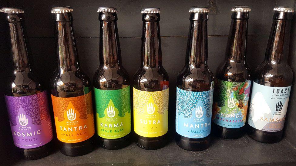Nirvana Brewery's range of beers