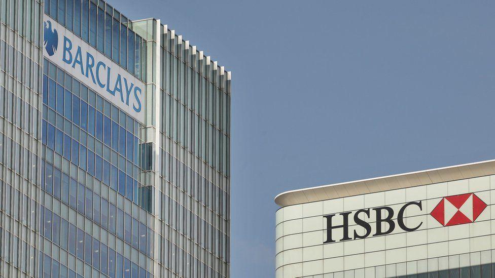 Barclays and HSBC headquarters