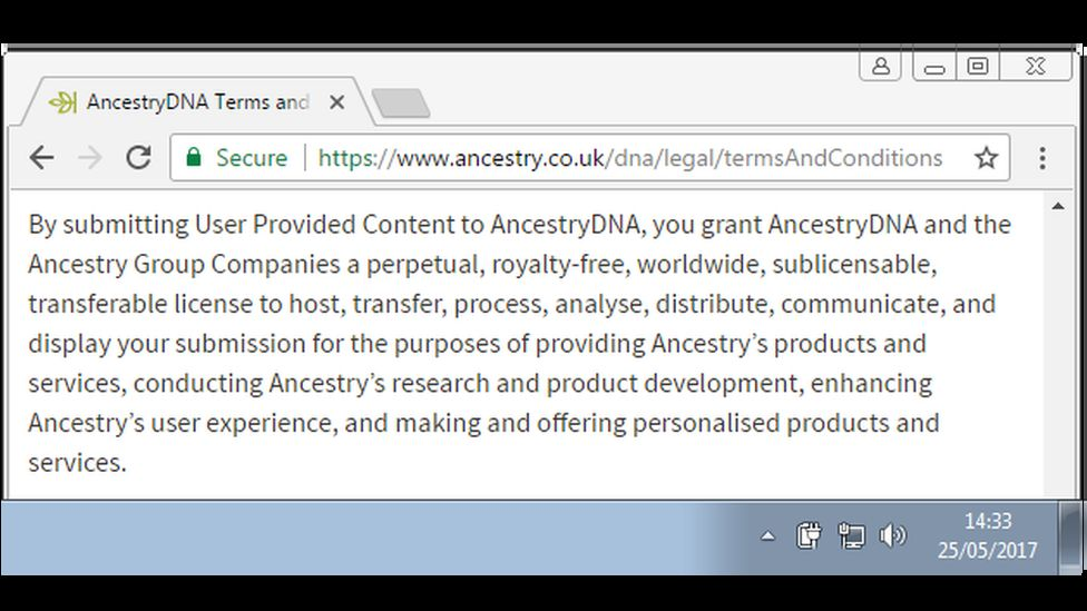 Ancestry DNA clause