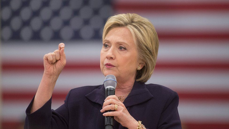 Democratic presidential candidate Hillary Clinton speaks at the Williamsburg County Recreation Center, 25 February 2016