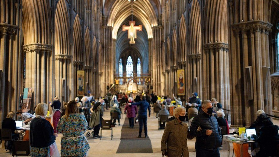 Members of the public at Lichfield Cathedral
