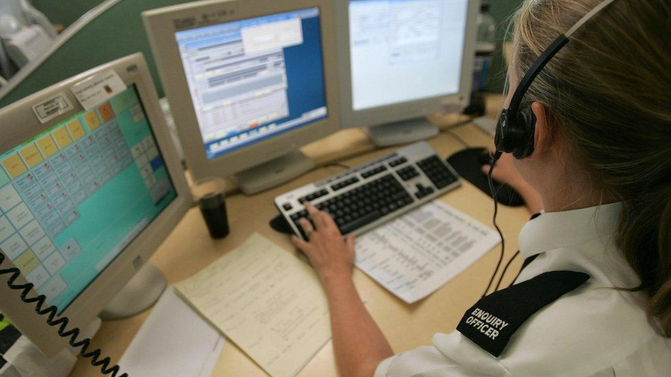 Police enquiry office on a 101 phone call