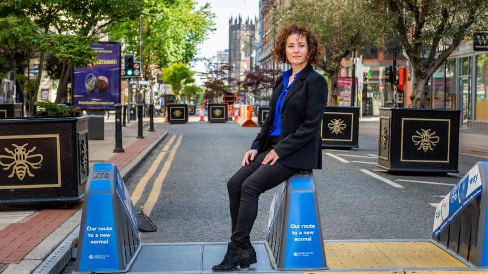 Councillor Angeliki Stogia and the new look Deansgate