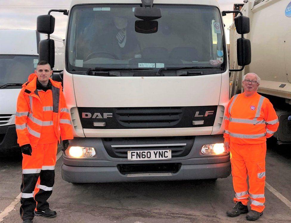 Ian Hall (left) in his new job