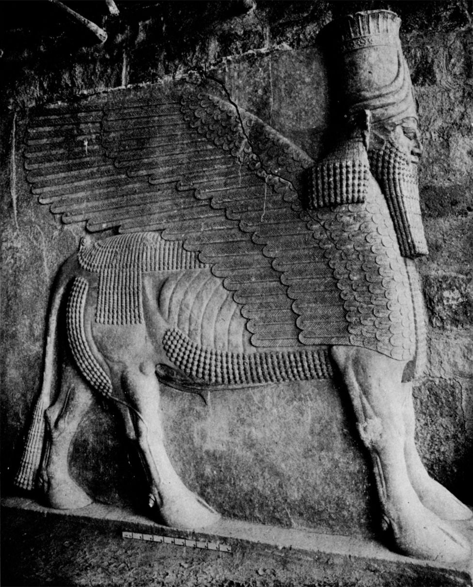 A side view of the Lamassu