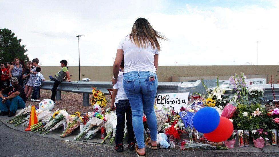 Memorials have sprung up around the Walmart