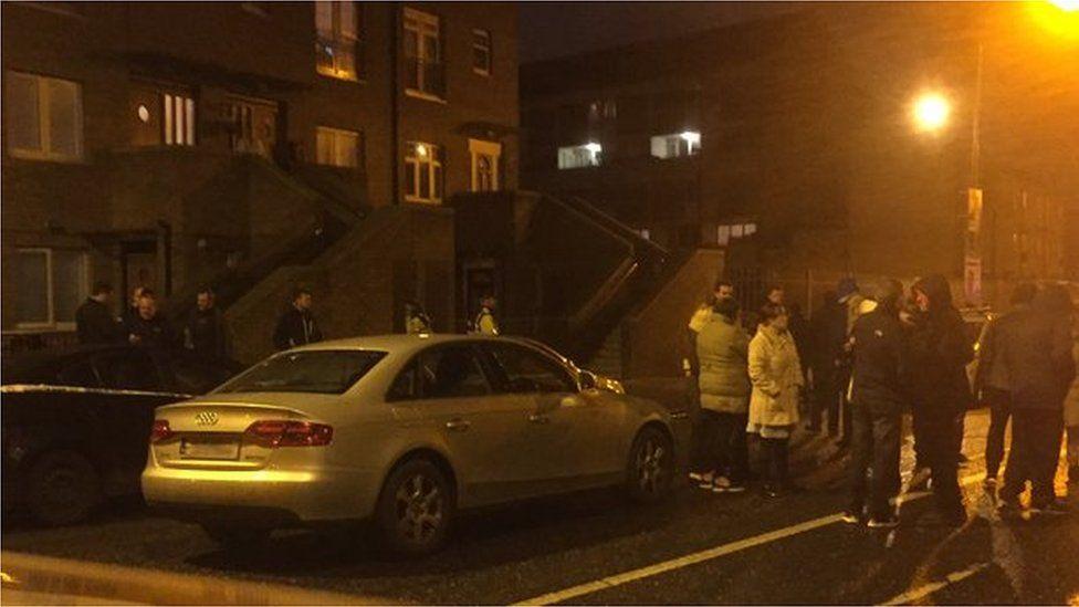 Crime scene in north Dublin following shooting