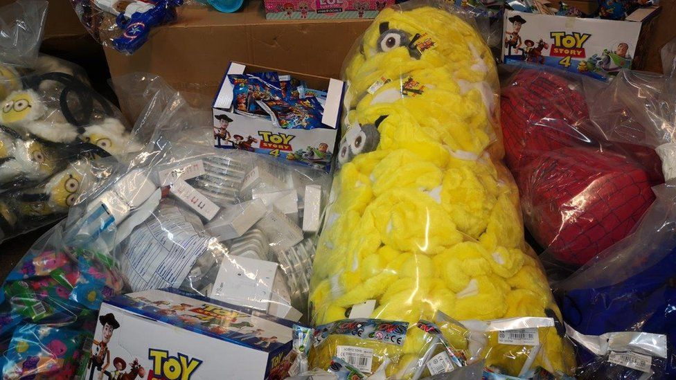 Fake Minions and Toy Story toys