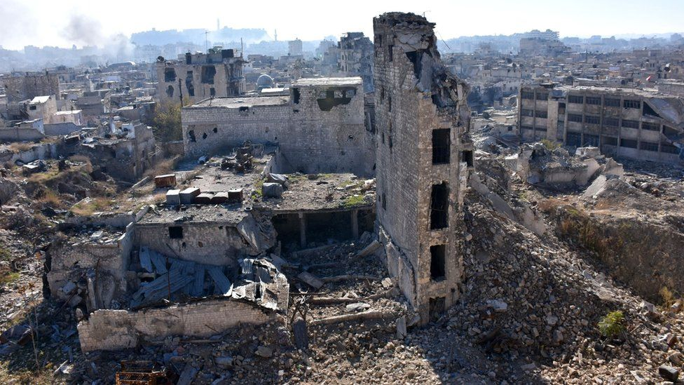 Aleppo's Old City, which fell to rebels in 2012, 9 December 2016