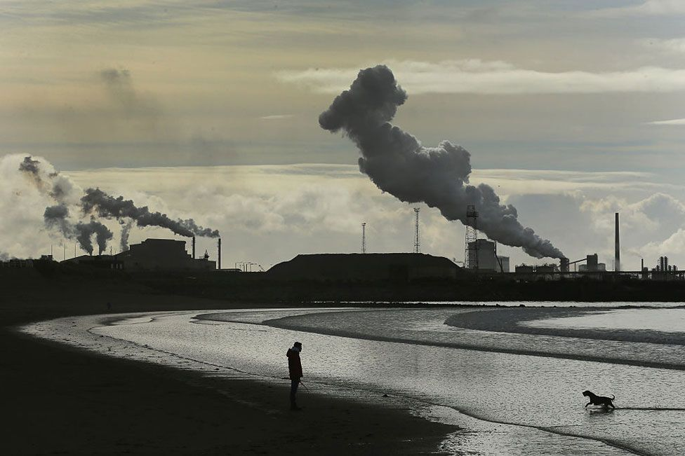 Port Talbot from a distance