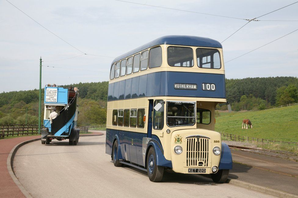 Daimler double decker bus which belonged to the Rotherham Corporation in the 1950s