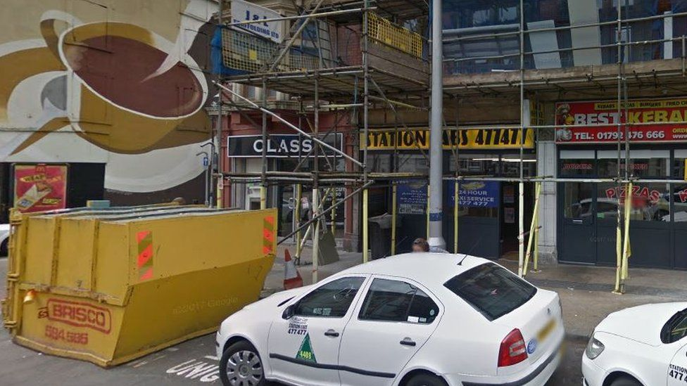 The fatal incident happened outside Station Cabs in Swansea two days before Christmas