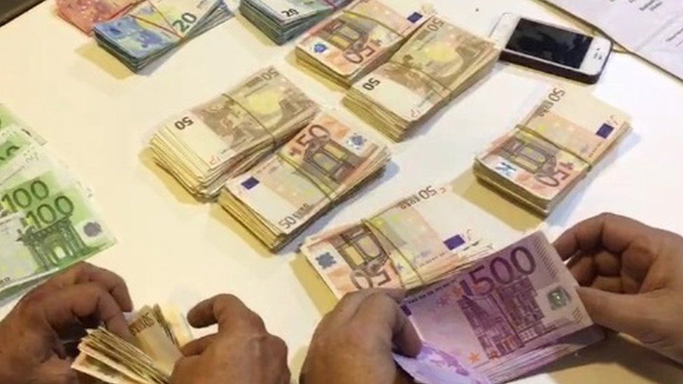Cash seized during searches in Spain