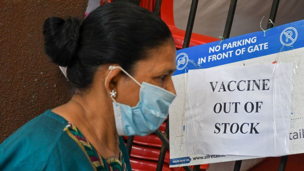 India's Covid vaccine shortage: The desperate wait gets longer - BBC News