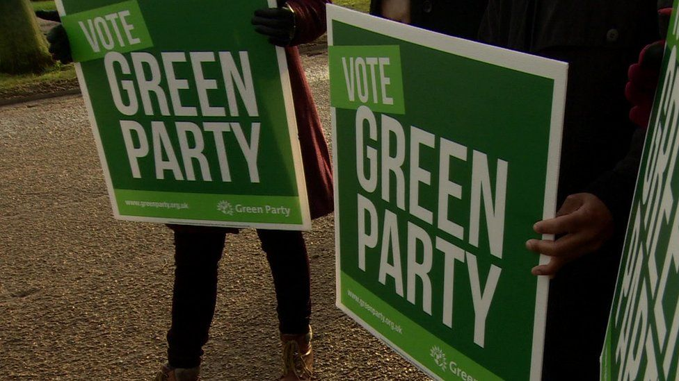 Green Party placards