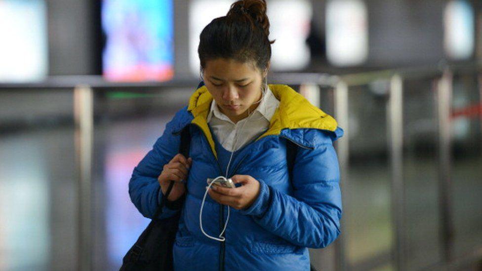 Chinese phone user
