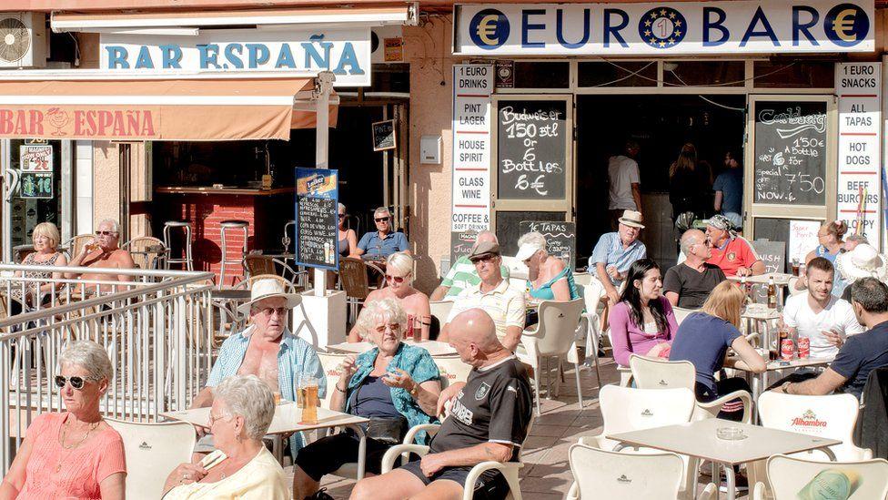 British expats in Benalmadena, Spain, 17 Mar 16