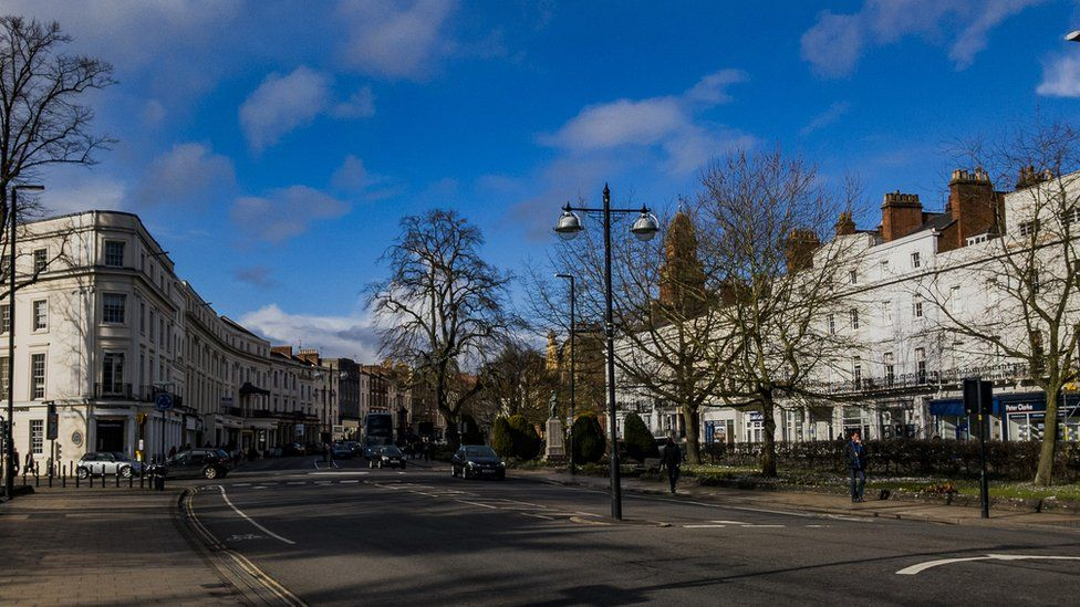 the streets of the historic Spa Town of Leamington