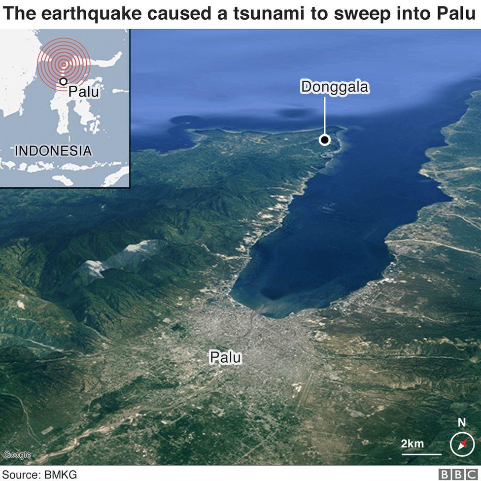 A map of Palu