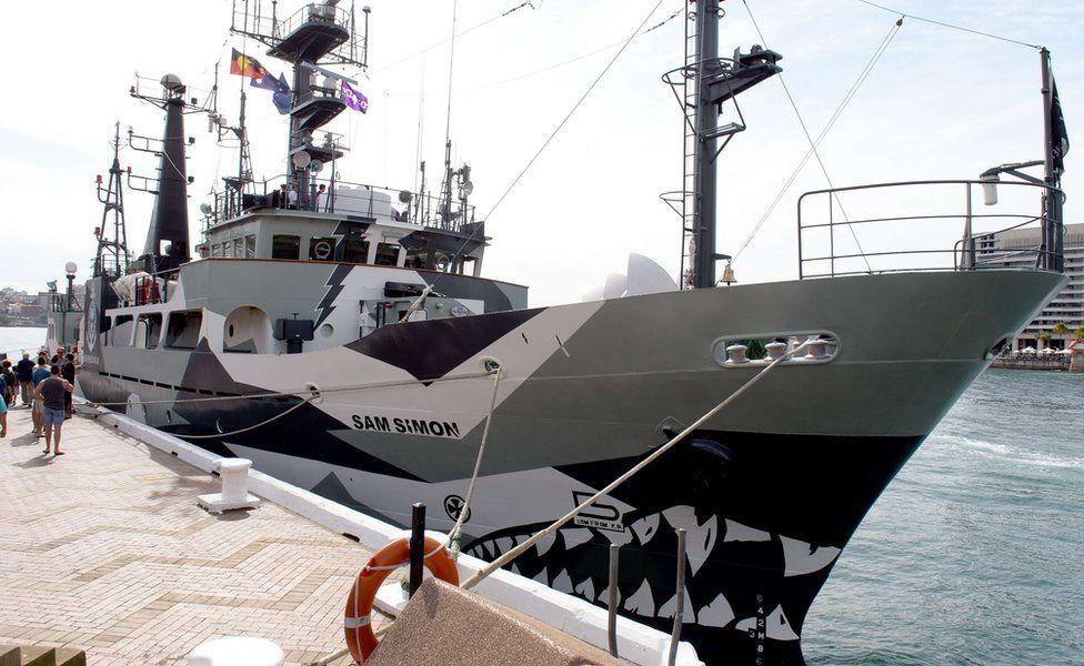 Sea Shepherd's ship, the Sam Simon, moored in Sydney in 2013