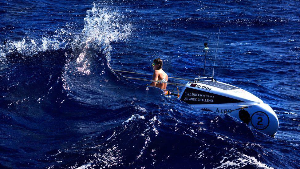 Jasmine Harrison, shortly after capsizing