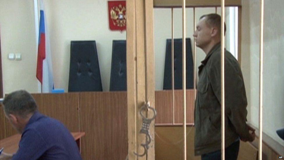 Eston Kohver in court in Pskov (19 August)
