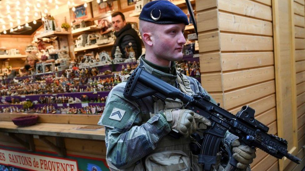 French military patrols after Strasbourg market reopens