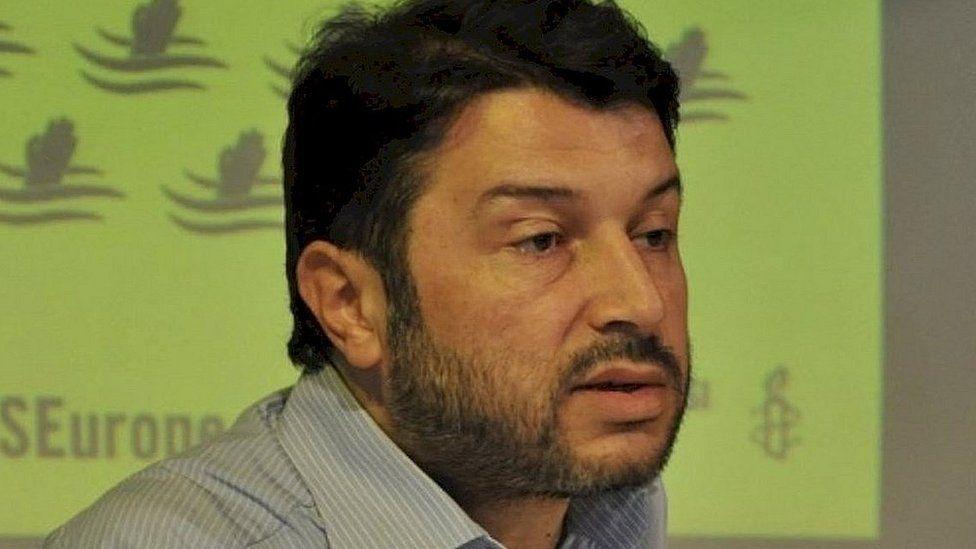 File image of head of Amnesty International in Turkey Taner Kilic