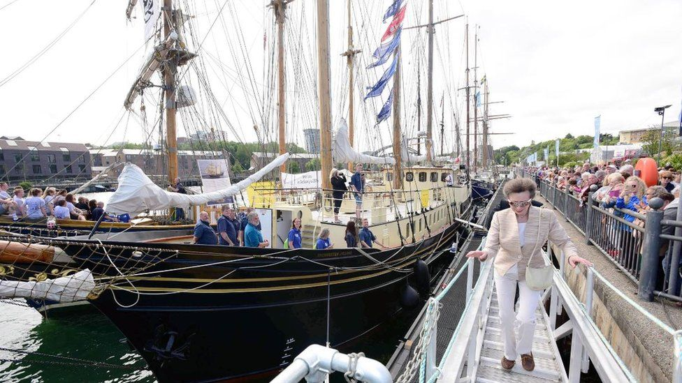 Princess Anne at Tall Ships event