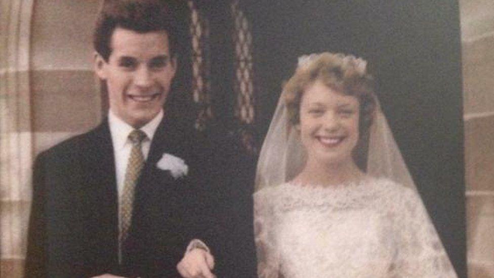 Dennis and Mavis Eccleston on their wedding day