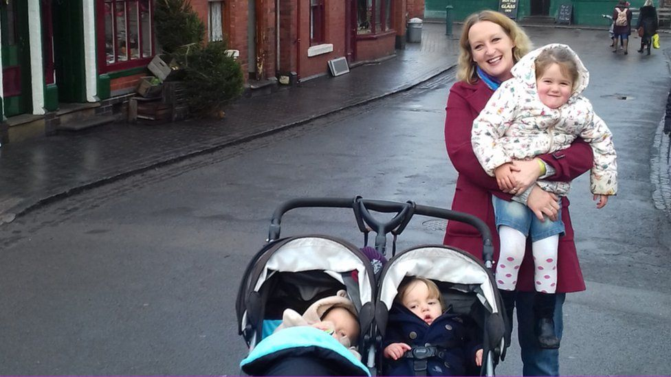 Stacey Chilcott with her three children at the Black Country Living Museum