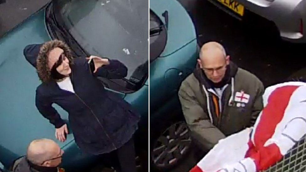 Man and woman on CCTV footage