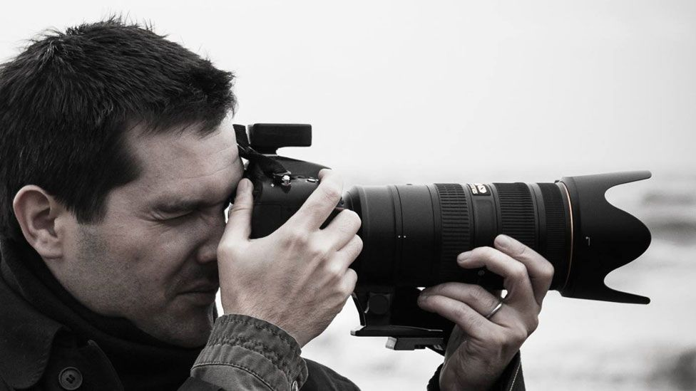 Luciano Richino con su cámara