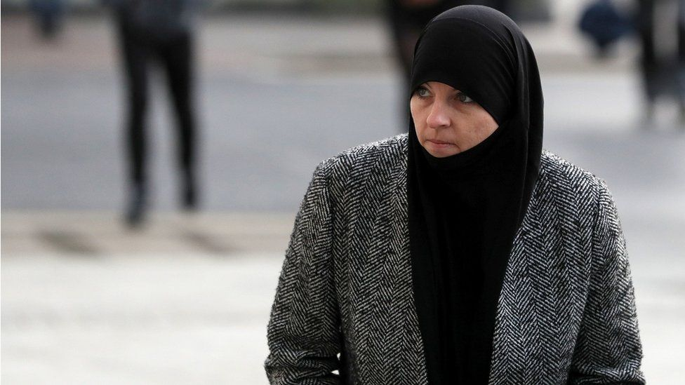 Lisa Smith arriving at the Central Criminal Court, Dublin, on Wednesday