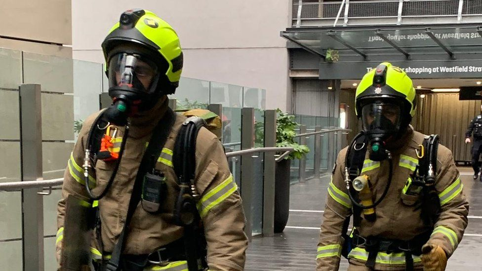London Fire Brigade carry out a training exercise