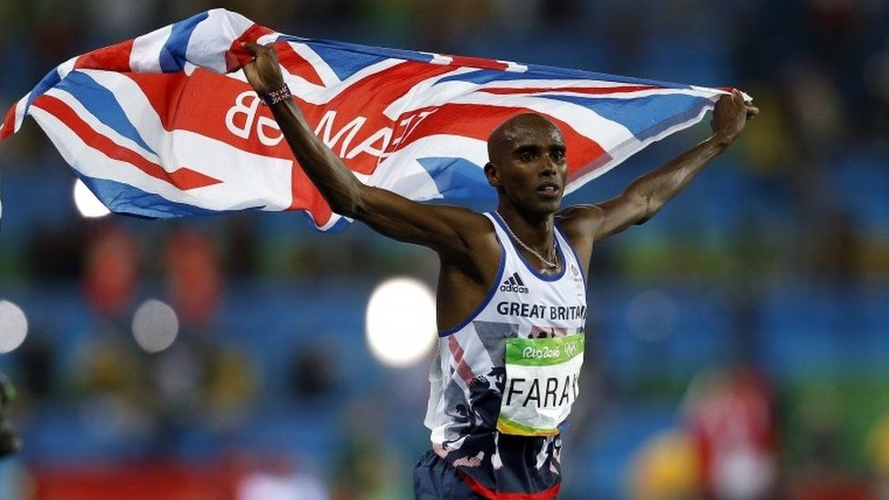 "File photo dated 13-08-2016 of Great Britain""s Mo Farah celebrates winning the Men""s 10,000m final."
