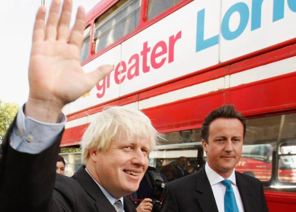 Boris Johnson and David Cameron in 2007
