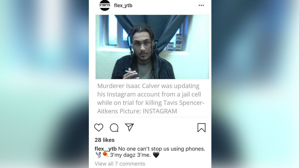 The Instagram post from the second account